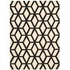 Nourison Linear Hand-Loomed Black/Ivory Area Rug