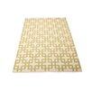 Nourison Handgewebter Wohnteppich Maze in Beige und Moosgrün