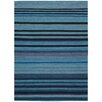 Nourison Ki08 Griot Hand-Woven Blue Area Rug
