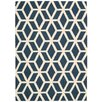 Nourison Linear Hand-Loomed Blue Area Rug