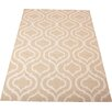 Nourison Linear Hand-Loomed Beige Area Rug