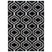 Nourison Linear Hand-Loomed Black Area Rug