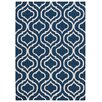 Nourison Linear Hand-Loomed Navy Area Rug