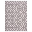Nourison Linear Hand-Loomed Brown Area Rug