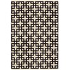 Nourison Maze Hand-Loomed Black/Cream Area Rug