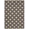 Nourison Handgewebter Wohnteppich Maze in Schwarz und Creme