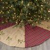 Sage & Co. Lodge Appalachian Plaid and Burlap Tree Skirt