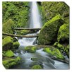 West of the Wind Outdoor Canvas Art Soda Creek Falls Outdoor Framed Photographic Print on Wrapped Canvas
