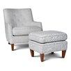 Opulence Home Fredrick Club Chair and Ottoman