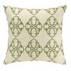 D.L. Rhein Filigree Embroidered Decorative Linen Throw Pillow