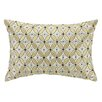 D.L. Rhein Delphinium Embroidered Decorative Linen Lumbar Pillow
