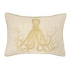 D.L. Rhein Octopus Embroidered Decorative Linen Lumbar Pillow