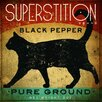"""Printfinders """"Superstition Black Pepper Cat"""" by Ryan Fowler Graphic Art on Canvas"""