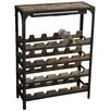 Oceans Apart Industrial Living 20 Bottle Wine Rack