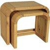 Oceans Apart Cadence Oak Resized 2 Piece Nest of Tables