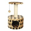"Trixie Pet Products 24"" Toledo Paw Print Cat Condo"