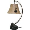 """Santa's Workshop Spinning Reel 27"""" H Table Lamp with Bell Shade"""