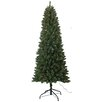 Santa's Workshop 7.5' PVC Slim Artificial Christmas Tree with 350 White Lights