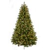 Santa's Workshop Bavarian Mixed 7.5' Green Pine Artificial Christmas Tree with 650 Clear & White Lights with Stand