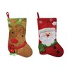 Santa's Workshop 2 Piece Rudy and Santa Stocking Set (Set of 2)