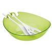 Koziol Shadow 3 Piece Salad Bowl & Server Set