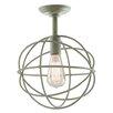 JVI Designs Globe 1 Light Semi Flush Mount