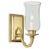 JVI Designs Virginia 1 Light Wall Sconce with Hurricane Shade
