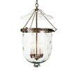 JVI Designs 4 Light Extra Large Bell Jar Foyer Pendant with Star Glass