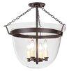JVI Designs Large Bell 4 Light  Foyer Pendant