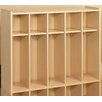 TotMate 2000 Series 1 Tier 16-Section Cubbie Toddler Locker