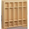 TotMate 2000 Series 1 Tier 5-Section Cubbie Preschool Locker