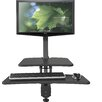 Balt Up-Rite Desk with Mounted Sit/Stand Height Adjustable Workstation/Cart