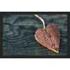 Akzente Gallery Wooden Heart Doormat