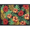 Akzente Easy Clean Hibiscus Doormat