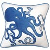 Rightside Design I Sea Life Coastal Inkling Octopus Applique Cotton Throw Pillow
