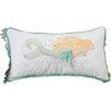 Rightside Design I Sea Life Coastal Pearl of the Sea Mermaid Cotton Throw Pillow