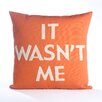 Alexandra Ferguson House Rules It Wasn't Me Throw Pillow