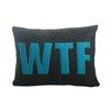Alexandra Ferguson Modern Lexicon WTF Lumbar Pillow