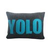 Alexandra Ferguson Modern Lexicon YOLO Decorative Throw Pillow