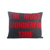 Alexandra Ferguson The Most Wonderful Time Felt Lumbar Pillow
