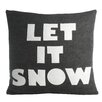 Alexandra Ferguson Weekend Getaway Let It Snow Throw Pillow
