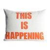 Alexandra Ferguson Zen Master This is Happening Throw Pillow