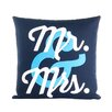 Alexandra Ferguson Flirt Mr and Mrs Throw Pillow