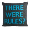 Alexandra Ferguson House Rules There Were Rules Throw Pillow