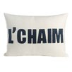 Alexandra Ferguson L'Chaim Organic Throw Pillow