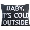 Alexandra Ferguson Baby, It's Cold Outside Eco-Friendly Lumbar Pillow
