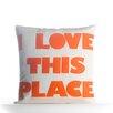 Alexandra Ferguson I Love This Place Outdoor Throw Pillow