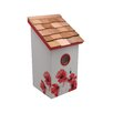 Garden Bazaar Salt Box Poppy Bird House