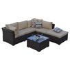 The-Hom Jicaro 5 Piece Seating Group with Cushions