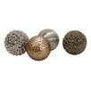 IMAX 4 Piece Decorative Ball Sculpture Set